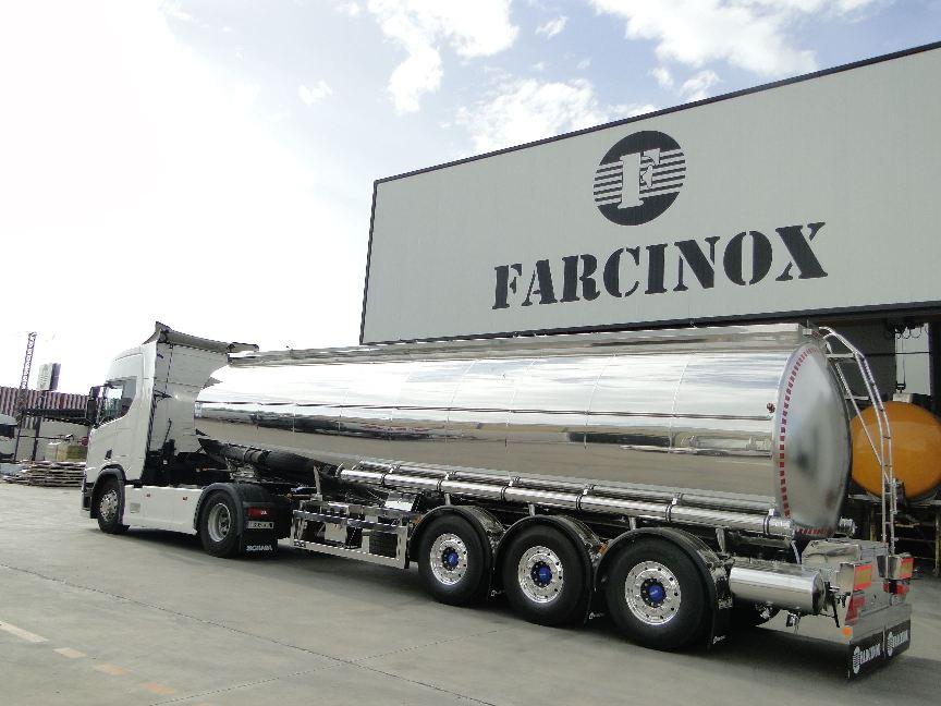 Cisternas alimentarias ATP y quimicas ADR fabricadas por Farcinox